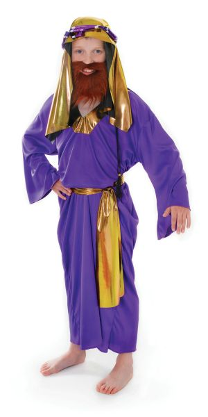 Childs Purple Wise Man Costume Thumbnail 1