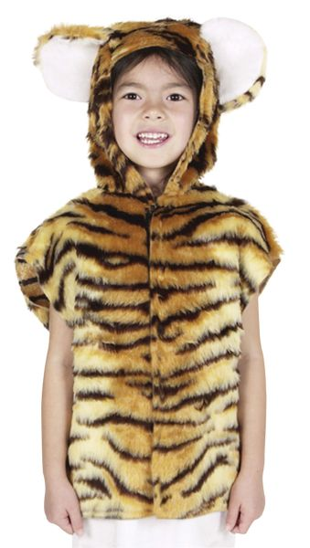 Childs Tiger Fur Tabard Thumbnail 1
