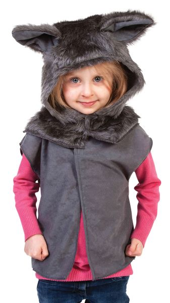 Childs Wolf Fur Tabard Thumbnail 1