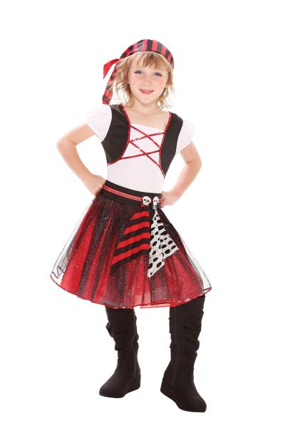 Childs Punky Pirate Girl Costume Thumbnail 1