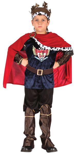 SALE Kids Medieval Fantasy King Boys Book Week Fancy Dress Childs Costume Outfit Thumbnail 1