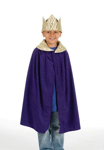 Childs Unisex Nativity Tabard  King  Purple Thumbnail 1