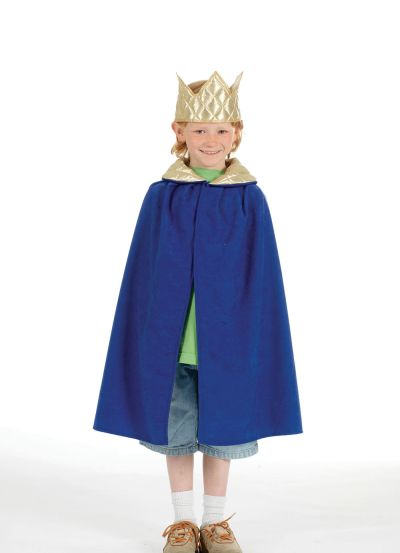 Childs Unisex Nativity Tabard  King  Blue Thumbnail 1