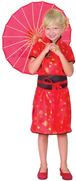 Childs Chinese Girl Costume Thumbnail 1