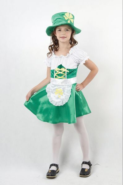 Childs Leprechaun Girl Costume Thumbnail 1