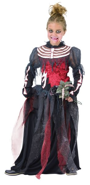 Childs Skeleton Bride Costume Thumbnail 1
