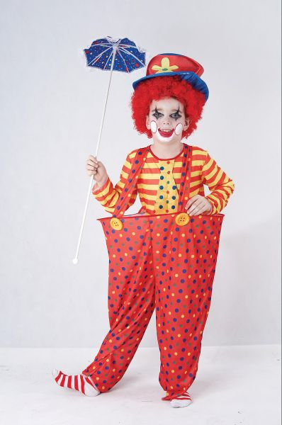 Childs Hoop Clown Costume Thumbnail 1