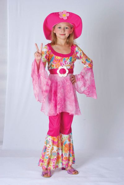 Childs Hippy Diva costume Thumbnail 1