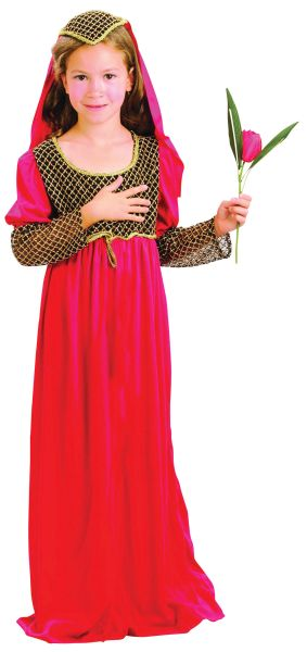 Childs Juliet Costume Red Thumbnail 1