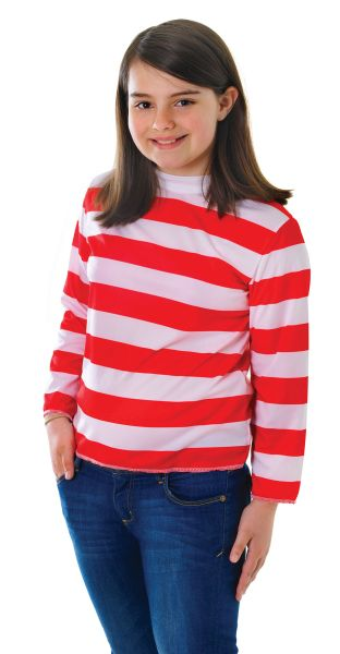 Childs Red and White Striped Top Thumbnail 2
