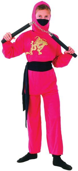 Childs Red Ninja Costume Thumbnail 1