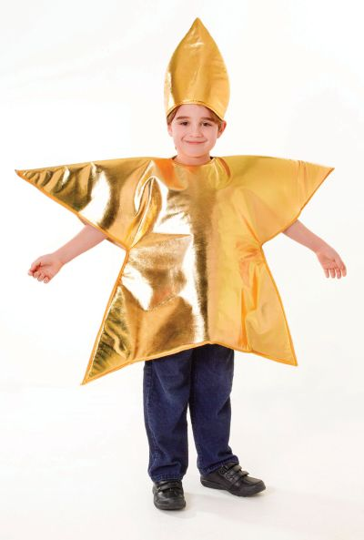 Childs Gold Star Costume  Thumbnail 2