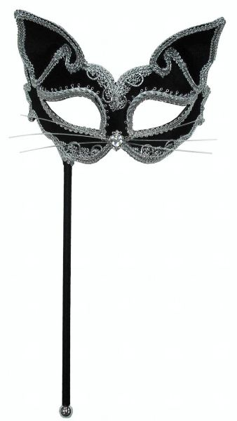 Cat Mask On Stick Thumbnail 1