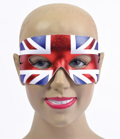 Union Jack Eye Mask. Male Thumbnail 1