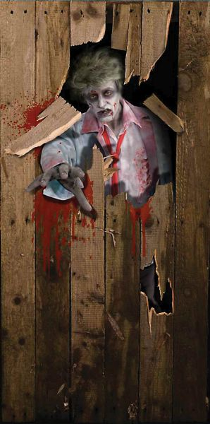 Halloween Door Poster 6ft x 3ft Thumbnail 1