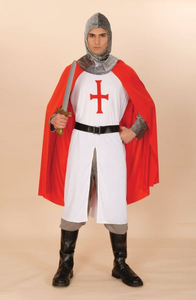 ST George Adult Knight Crusader Costume Thumbnail 1