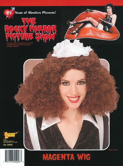 Licensed ROCKY HORROR Magenta Wig Thumbnail 1