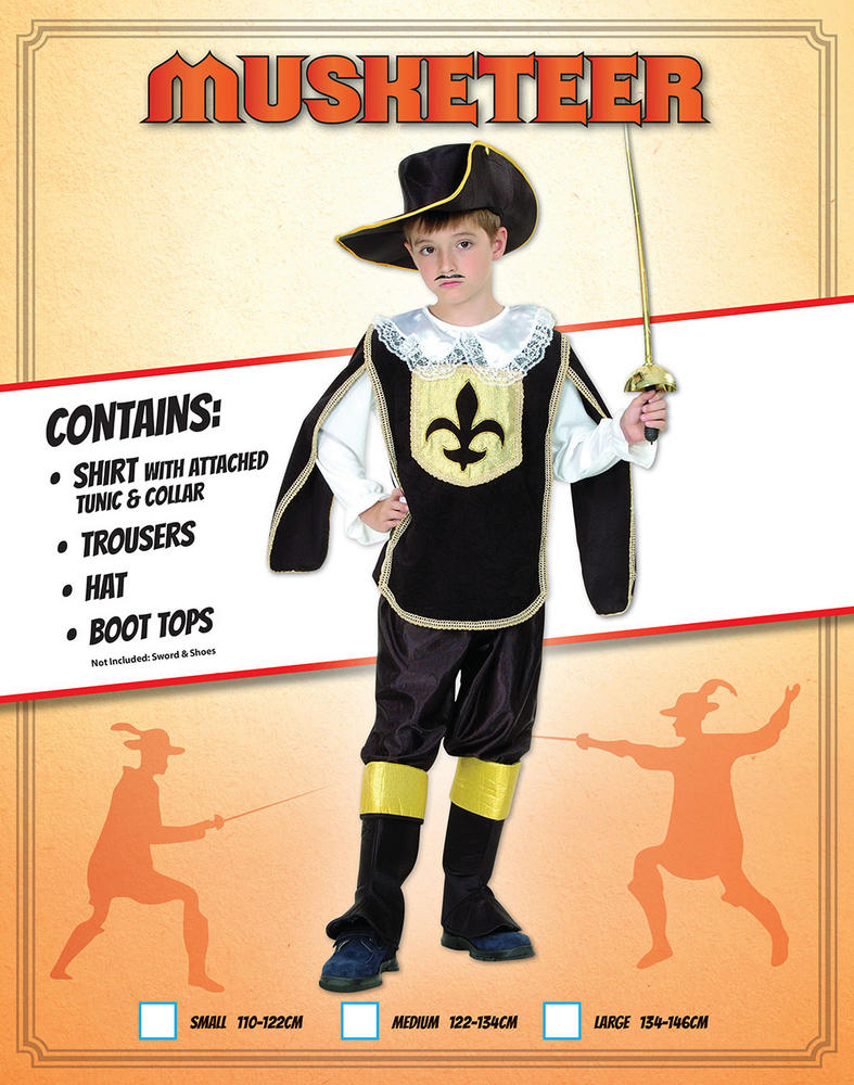 Childs Musketeer Boy Costume