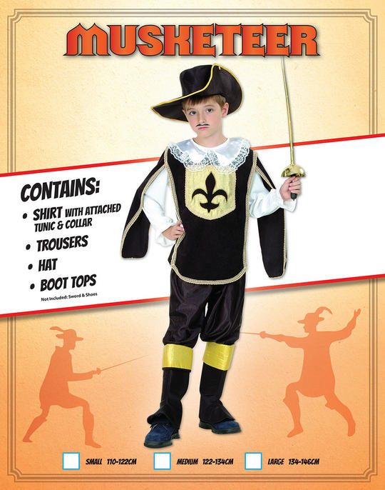 Childs Musketeer Boy Costume Thumbnail 1