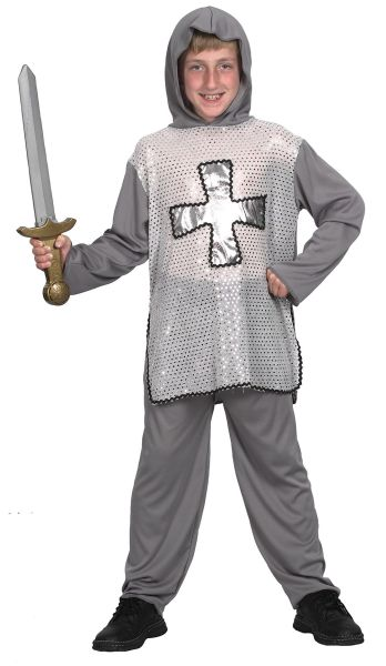 Childs Silver Knight Costume Thumbnail 1