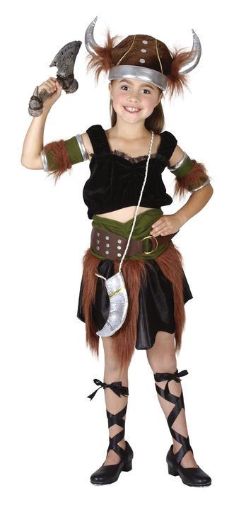 Childs Viking Girl Costume Thumbnail 1