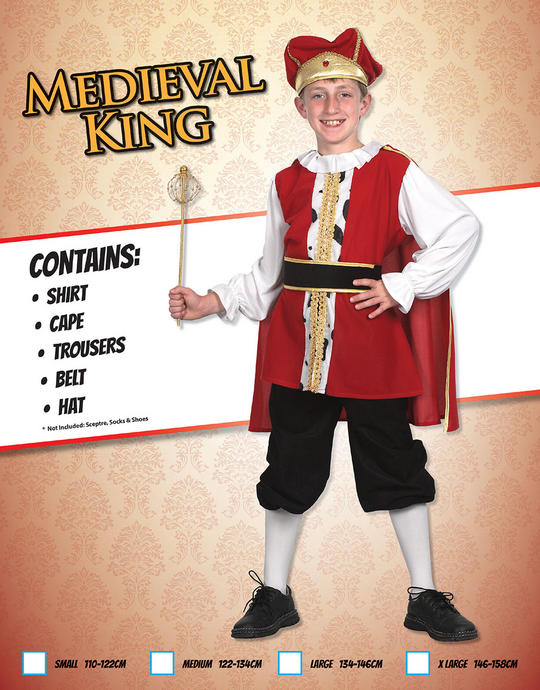 Childs Medieval King Costume Thumbnail 2