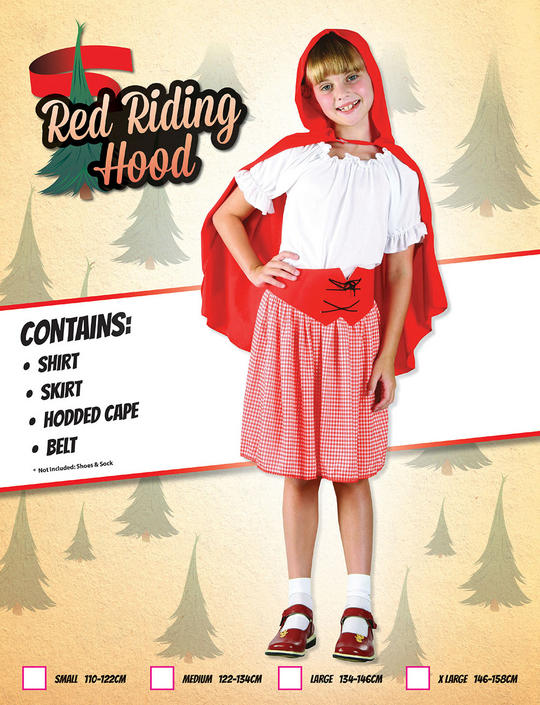 Childs Red Riding Hood Costume Thumbnail 1