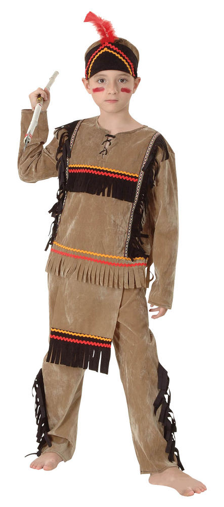 Childs Indian Boy Deluxe Costume