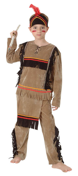 Childs Indian Boy Deluxe Costume Thumbnail 1