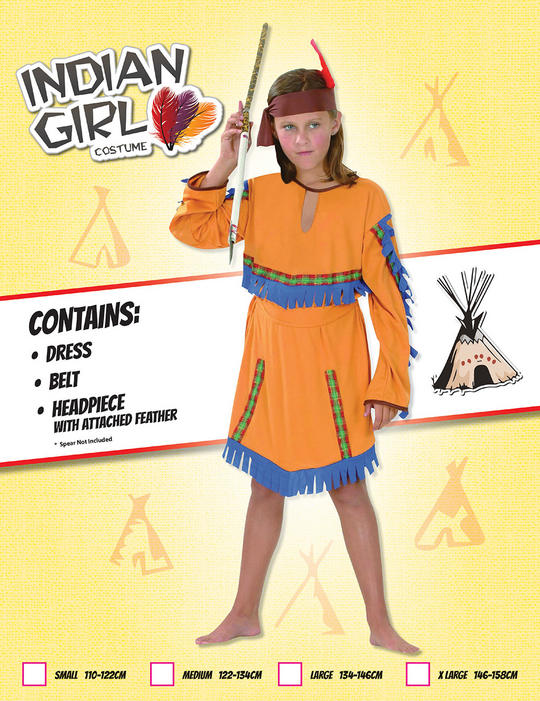 Childs Indian Girls Costume Thumbnail 1