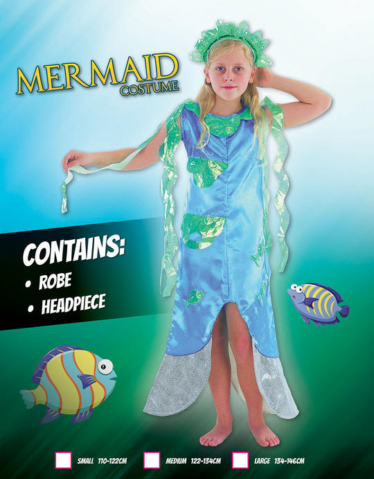 Childs Mermaid costume Thumbnail 1