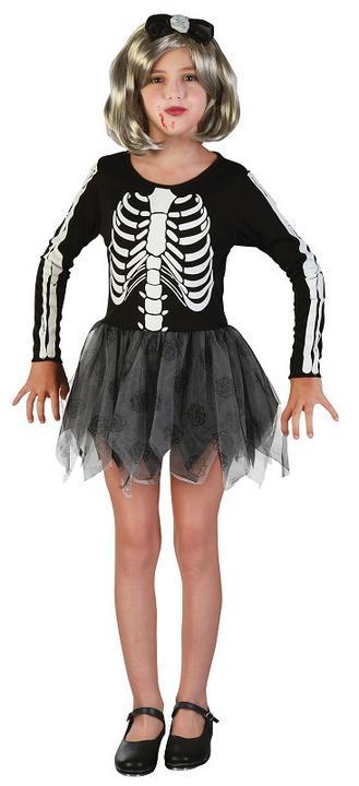 Childs Skeleton Girl Costume Thumbnail 1