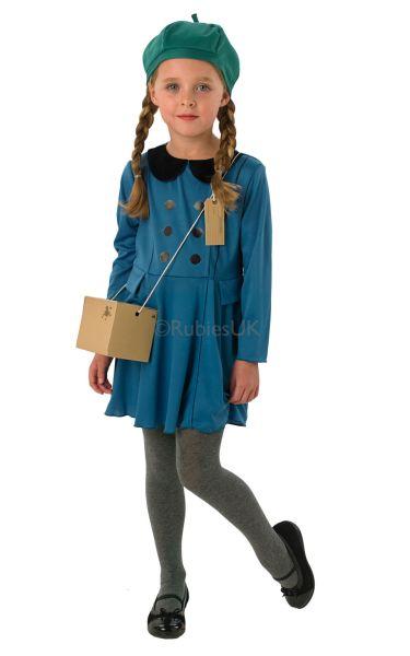Kids-1940s-World-War-II-40s-Evacuee-Girls-School-Book-Week-Fancy-Dress-Costume