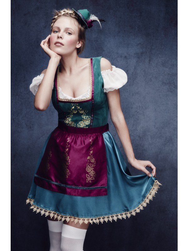 Adult Sexy Fever Deluxe Bavarian Oktoberfest Ladies Fancy Dress Costume Outfit
