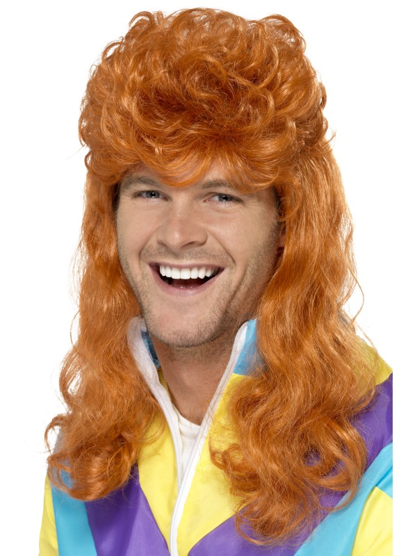 80's Super Ginger Mullet Wig