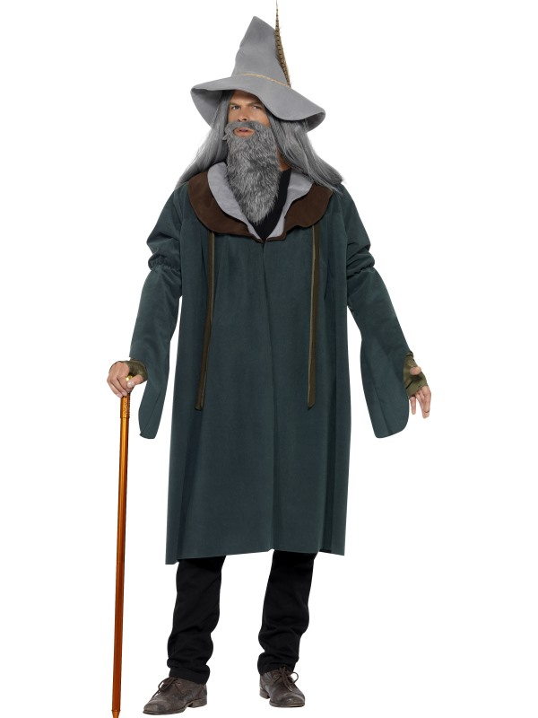 Adult Magic Wizard Of The Woods Mens Halloween Party Fancy Dress Costume Outfit