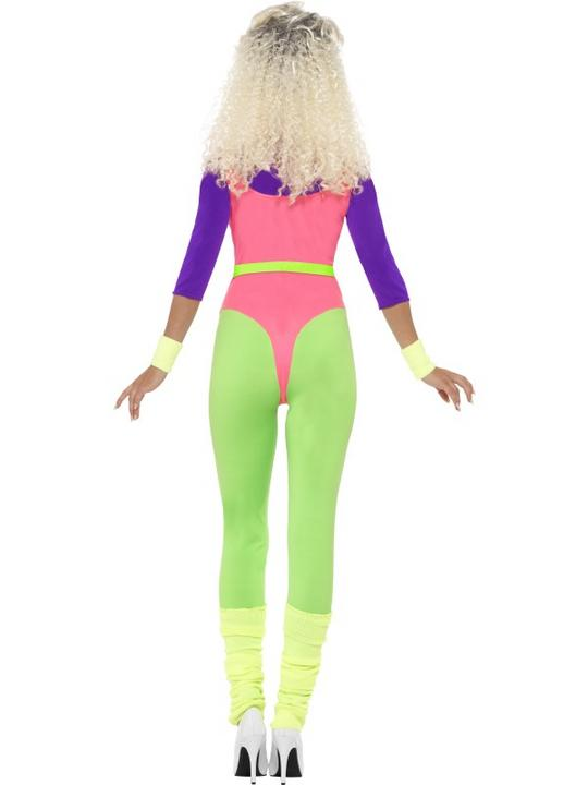 Adult 80's Let's Get Physical Work Leotard Out Ladies Fancy Dress Costume Outfit Thumbnail 3