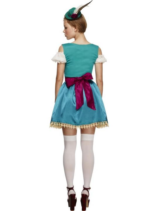 Adult Sexy Fever Deluxe Bavarian Oktoberfest Ladies Fancy Dress Costume Outfit Thumbnail 2