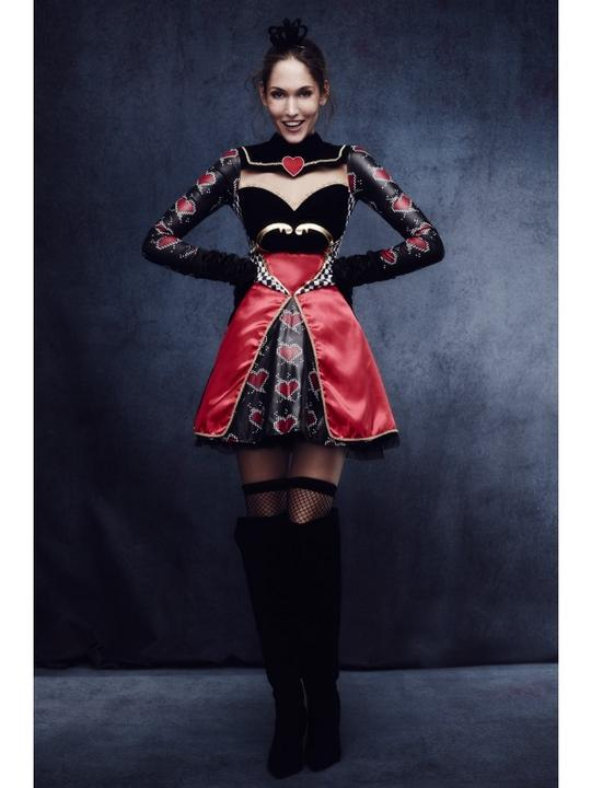 Fever Queen Of Hearts Costume, with Dress Thumbnail 2