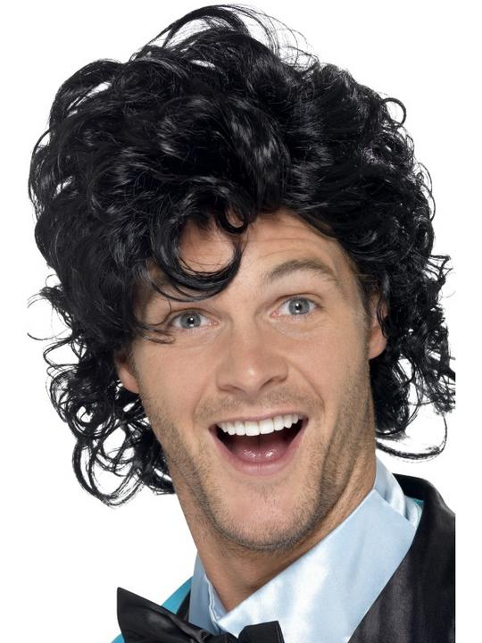 80's Prom King Perm Wig Thumbnail 1