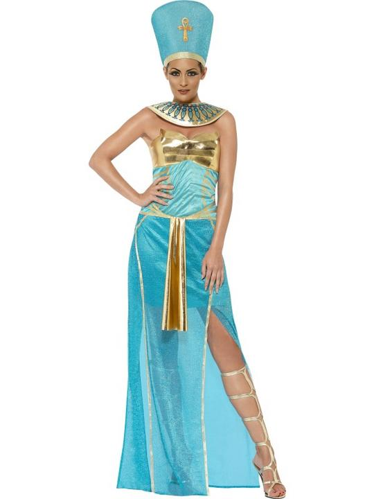 Adult Sexy Egyptian Goddess Queen Nefertiti Ladies Fancy Dress Costume Outfit Thumbnail 1