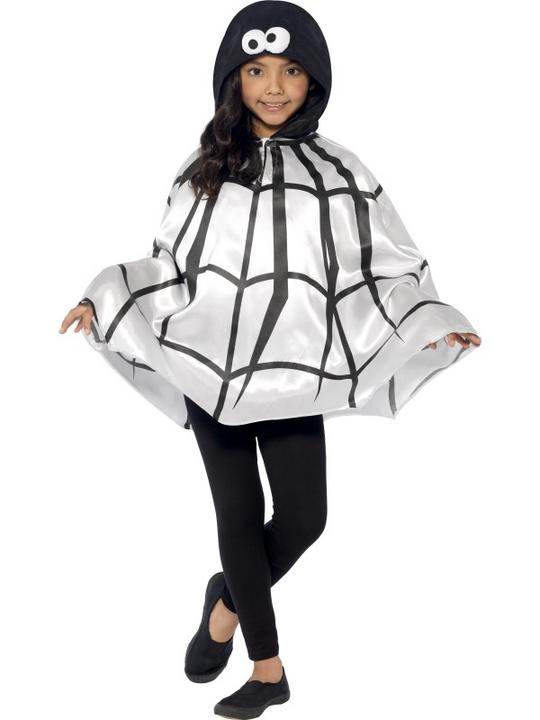 SALE Kids Spooky Spider Cape Girls Halloween Party Fancy Dress Costume Accessory Thumbnail 1