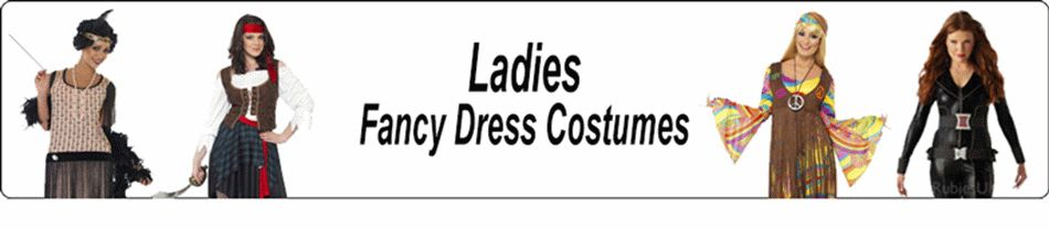 Fantastic range of Fancy Dress Costumes for ladies for any event from Halloween and Christmas to Karaoke and Hen Nights