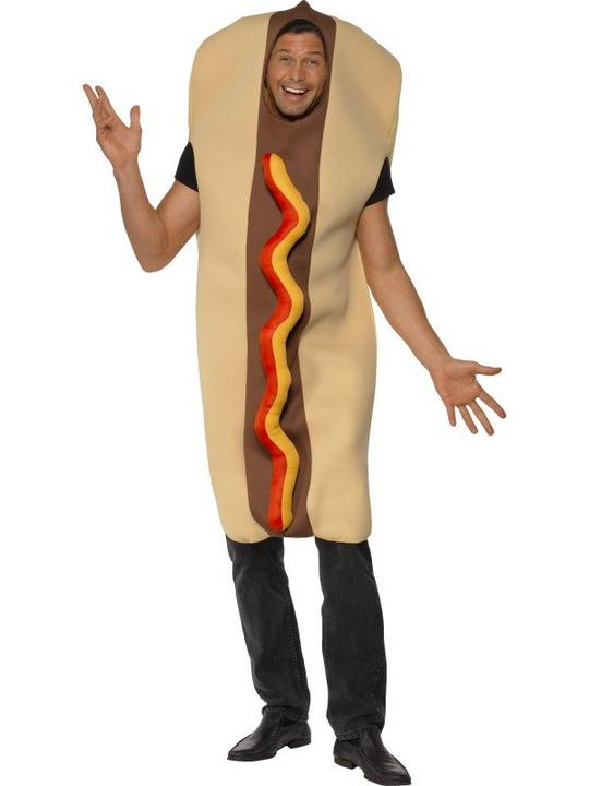 Giant Hot Dog Fancy Dress Costume Thumbnail 1