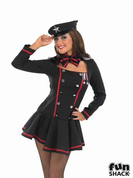 Army Commander Costume Ladies Sexy Russian Sailor Fancy Dress Hen Party Outfit