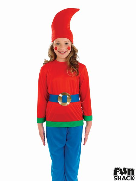 Kids Snow White Dwarf / Gnome Girls / Boys Book Week Fancy Dress Childs Costume