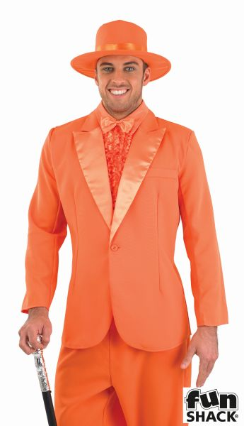 Orange Suit Fancy Dress Costume