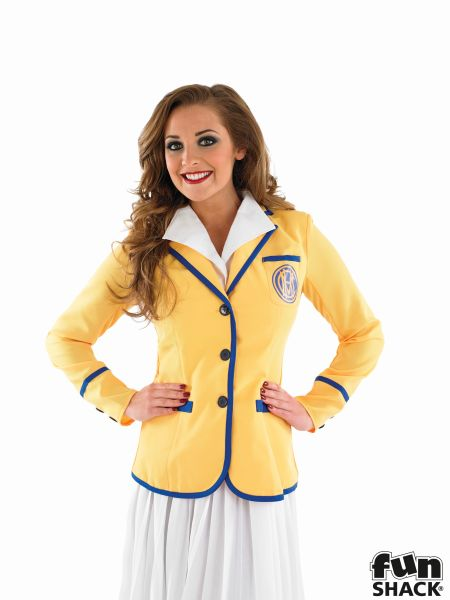 Adult 80s Hi De Hi Female Yellow Coat Costume Ladies Womens Fancy Dress 8 - 30