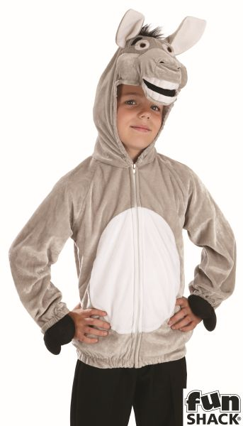 Kids Farm Animal Funny Donkey Girls / Boys Book Week Fancy Dress Childs Costume