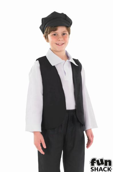 SALE Kids Poor Victorian Oliver Boys Book Week Fancy Dress Childs Costume Outfit Thumbnail 1